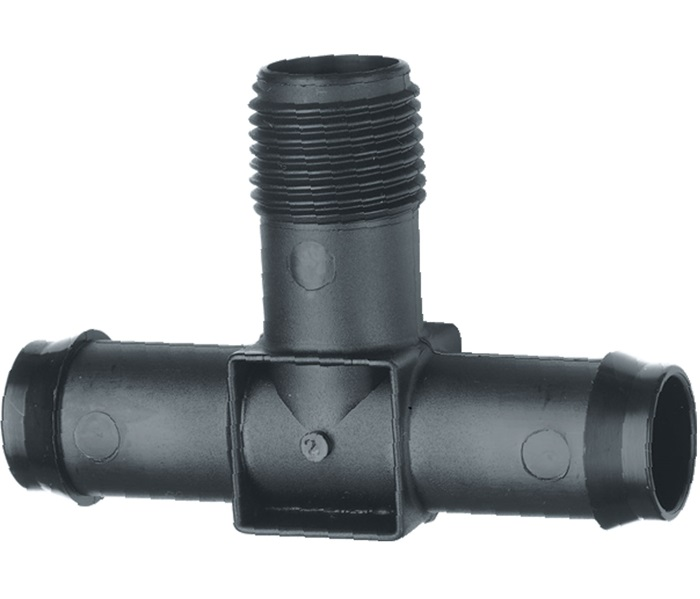 19 mm Barbed x 15 mm BSP Male Threaded Tee